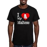 I Love My Maltese Men's Fitted T-Shirt (dark)