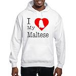 I Love My Maltese Hooded Sweatshirt