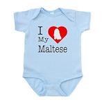 I Love My Maltese Infant Bodysuit