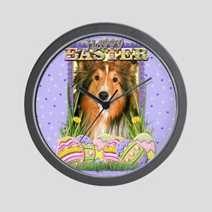 Easter Egg Cookies - Sheltie Wall Clock