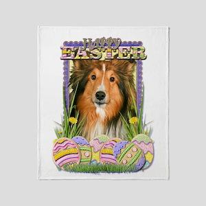 Easter Egg Cookies - Sheltie Throw Blanket