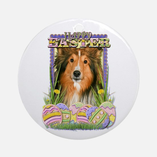 Easter Egg Cookies - Sheltie Ornament (Round)