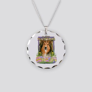 Easter Egg Cookies - Sheltie Necklace Circle Charm