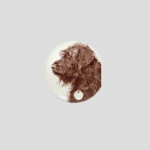 Chocolate Labradoodle 4 Mini Button