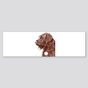 Chocolate Labradoodle 4 Sticker (Bumper)