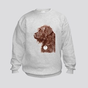 Chocolate Labradoodle 4 Kids Sweatshirt