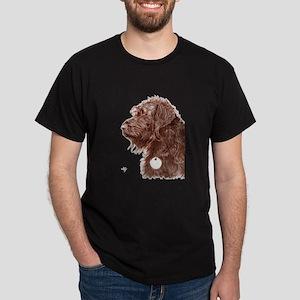 Chocolate Labradoodle 4 Dark T-Shirt