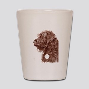 Chocolate Labradoodle 4 Shot Glass