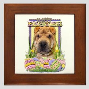 Easter Egg Cookies - Shar Pei Framed Tile