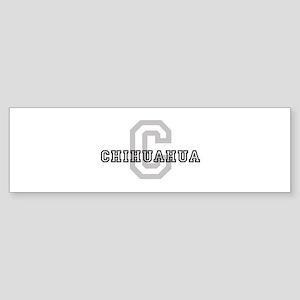 Letter C: Chihuahua Bumper Sticker
