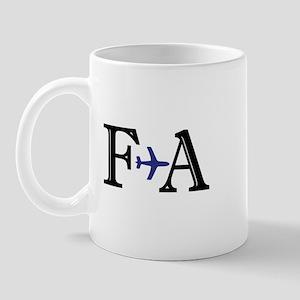 FA Flight Attendant Here to Save Mug
