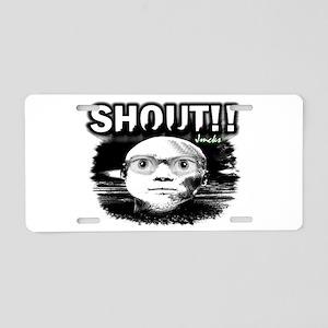 shout Aluminum License Plate