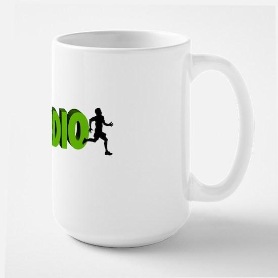 Zombie Rule #1 CARDIO! Large Mug