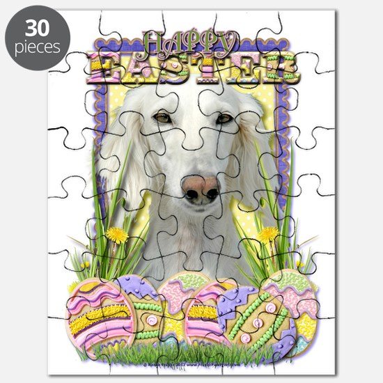 Easter Egg Cookies - Saluki Puzzle