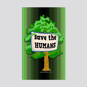 Save the Humans... Sticker (Rectangle)