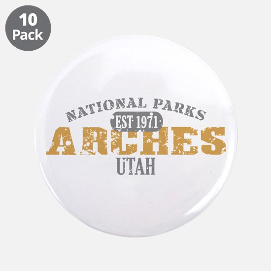"Arches National Park Utah 3.5"" Button (10 pack)"