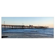 Pier in an ocean, Pismo Beach Pier, Pismo Beach, S Canvas Art