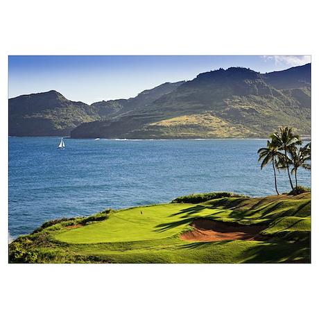 Palm Trees In A Golf Course, Kauai Lagoons, Kauai,