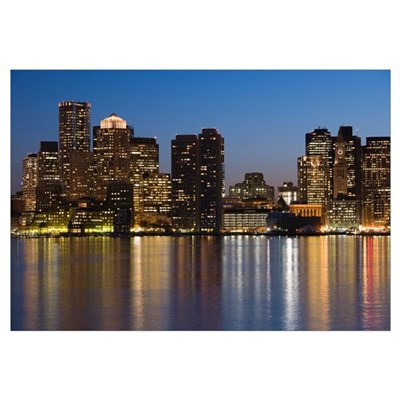 Buildings at the waterfront, Boston, Massachusetts Canvas Art