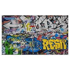 Grafitti on the U2 Wall, Windmill Lane, Dublin, Ir Poster