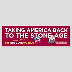 Back To Stone Age (Bumper Sticker)