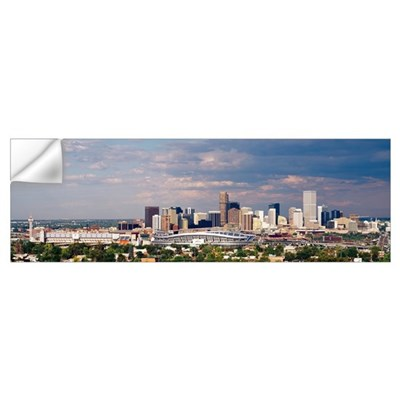 Skyline with Invesco Stadium, Denver, Colorado Wall Decal
