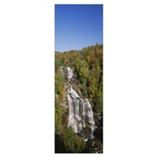 Waterfall in the forest, Whitewater Falls, Nantaha Poster