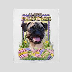 Easter Egg Cookies - Pug Throw Blanket