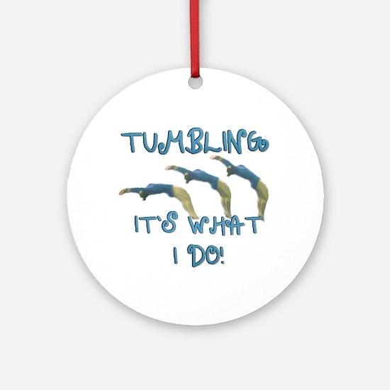 Tumbling Gymnast Ornament (Round)
