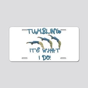 Tumbling Gymnast Aluminum License Plate