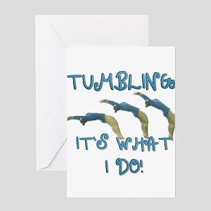 Tumbling Gymnast Greeting Card