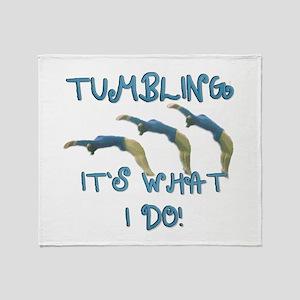 Tumbling Gymnast Throw Blanket