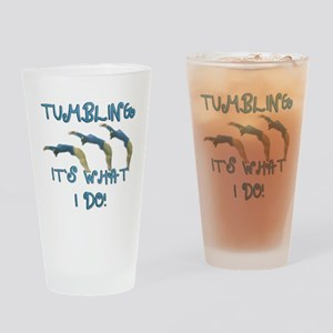 Tumbling Gymnast Drinking Glass