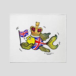 Royal Brithis Fish Throw Blanket
