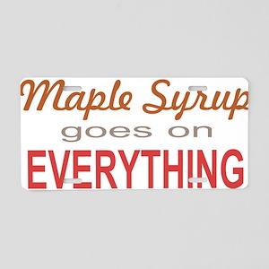 Maple Syrup goes on Everythin Aluminum License Pla