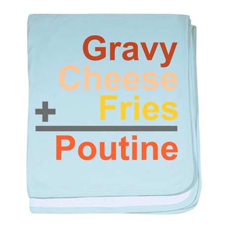The Poutine Equation baby blanket