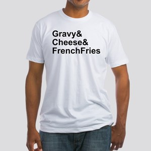 Poutine Ingredients Fitted T-Shirt