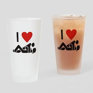 Loving Sex Drinking Glass