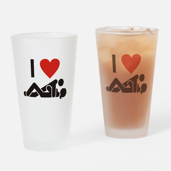 Loving Sex Drinking Glass