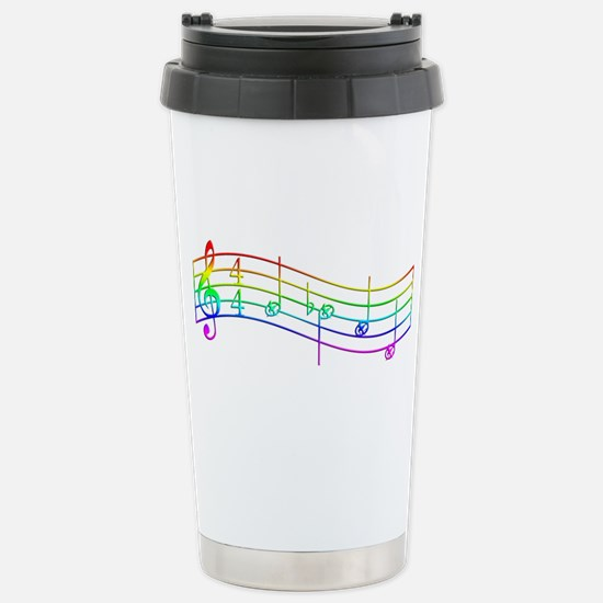 "Rainbow ""Rue's Whistle"" Stainless Steel Travel Mug"