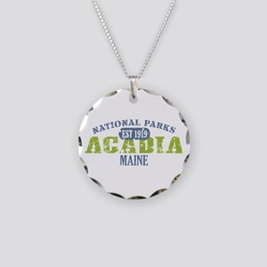 Acadia National Park Maine Necklace Circle Charm
