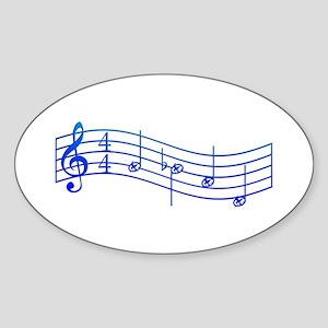 "Mockingjay Blue ""Rue's Whistle"" Sticker (Oval)"