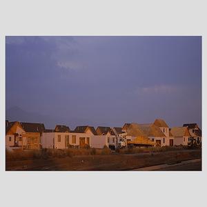 Houses in a row, Missoula, Montana