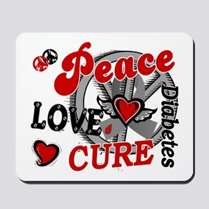 Peace Love Cure 2 Diabetes Mousepad