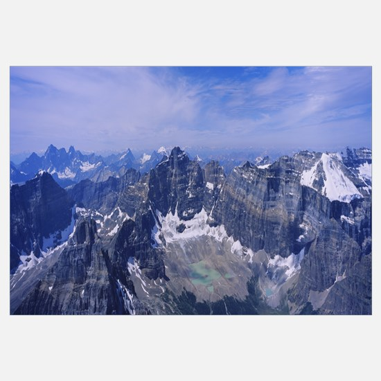 Aerial view of a mountain range, Mt Temple, Banff
