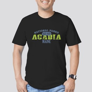 Acadia National Park Maine Men's Fitted T-Shirt (d