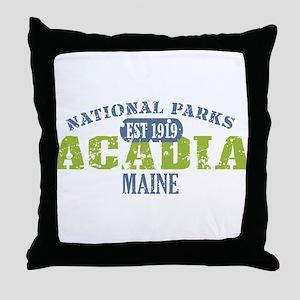 Acadia National Park Maine Throw Pillow