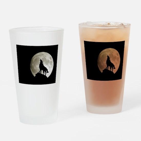 Lone Wolf Drinking Glass