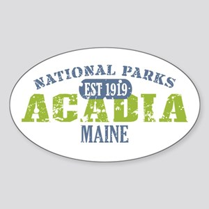 Acadia National Park Maine Sticker (Oval)