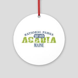 Acadia National Park Maine Ornament (Round)
